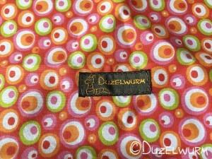 Baumwollstoff mit Etikette Duzelwurm